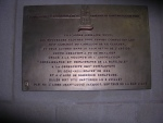 Plaque de bronze